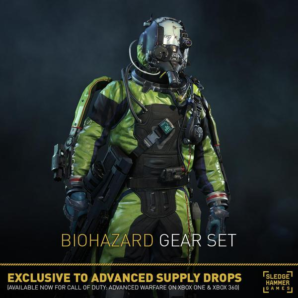 PS4 Advanced Warfare Gamers get Biohazard, Tombstone, Backdraft, and Psychedelic gear