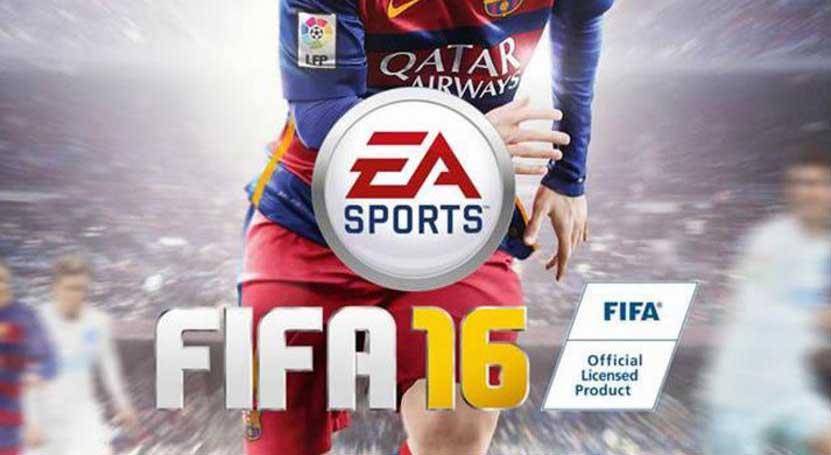 Lionel Messi in the Fifa 16 Cover