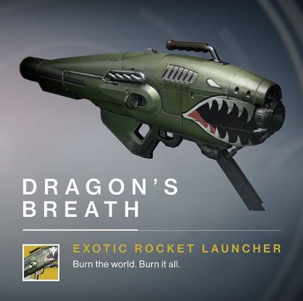 Dragon's Breath Exotic rocket launcher1