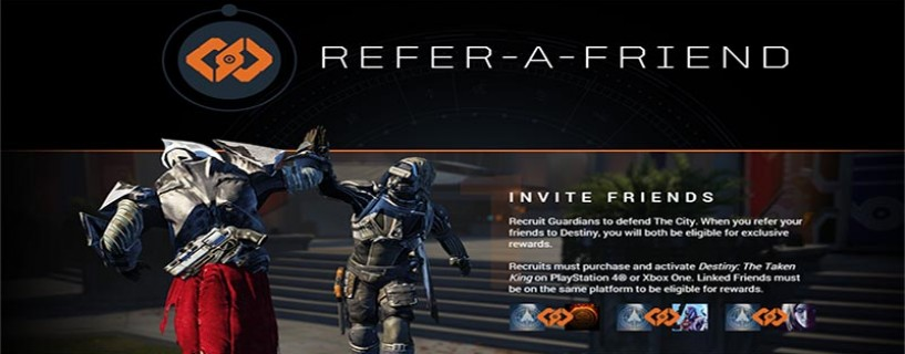 Destiny refer a friend program how does it work for current and new
