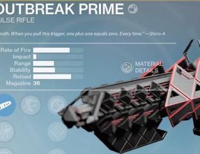 Destiny Outbreak Prime Overview Pulse Rifle, Review coming Soon