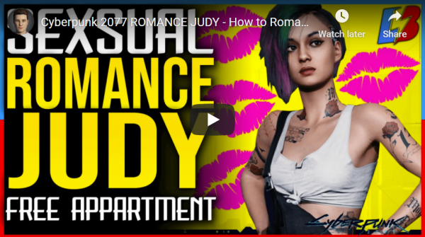 cyberpunk 2077 romance judy options