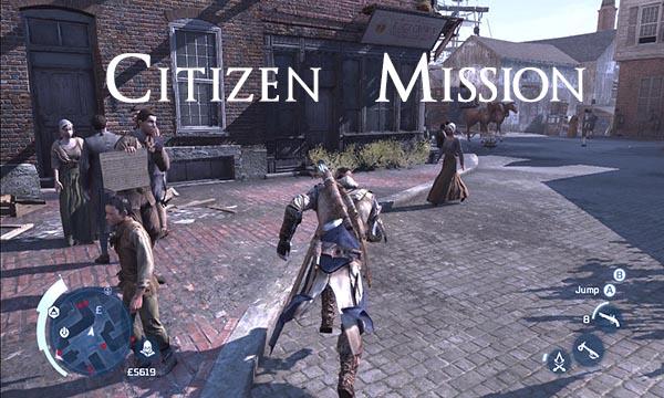 Assassins Creed 3 Citizen Mission