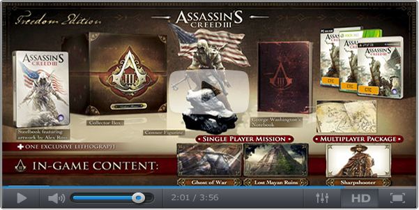 Assassins Creed 3 Freedom Edition Revealed