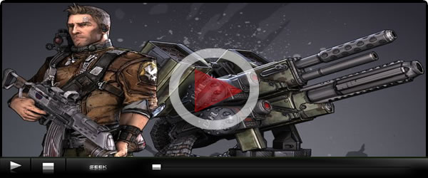 Borderlands 2 trailer Displays in Game Action