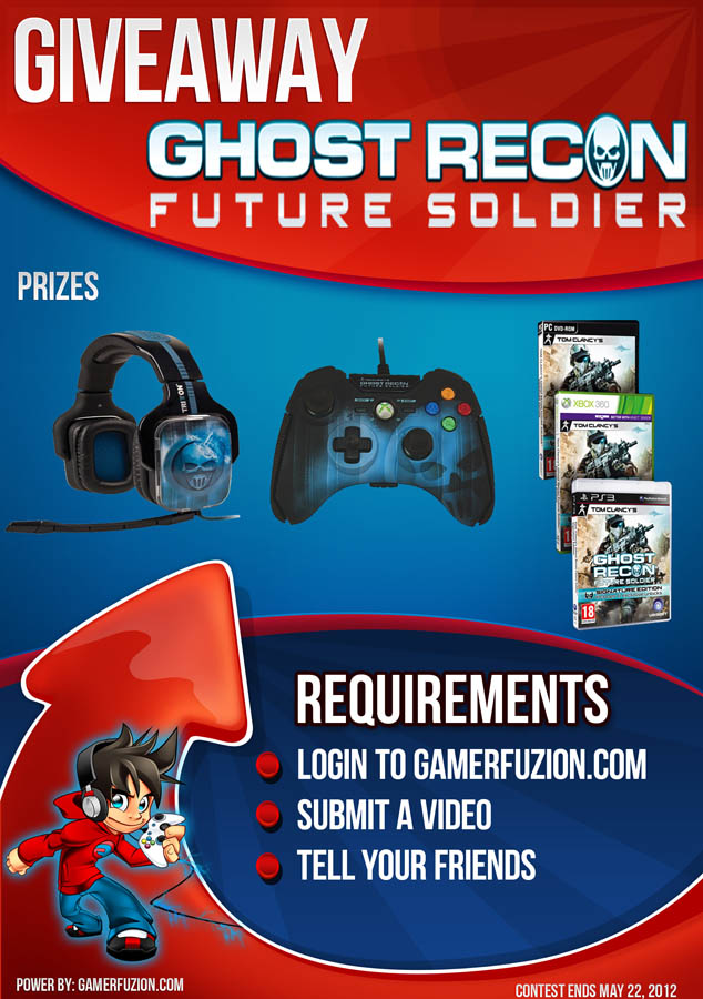 Ghost Recon Future Soldier Giveaway: Free Headset, Pro Gamepad, Video Game