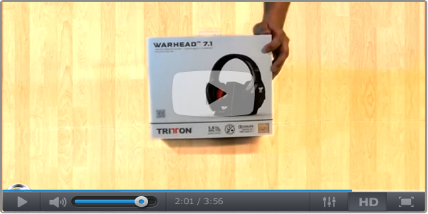 Tritton warhead 7.1 Unboxing Gaming Wireless Headset
